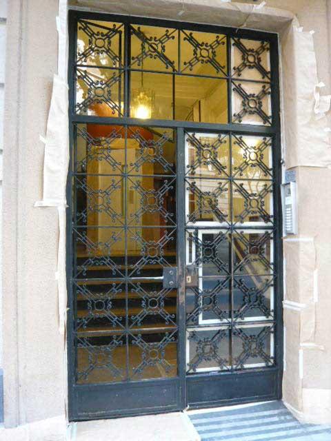 Lacado de puerta de ascensor y puerta de hierro forjado - Puertas hierro forjado ...