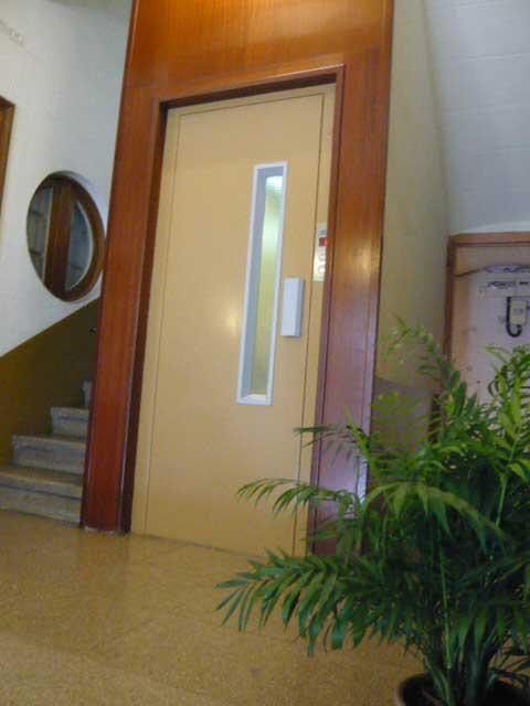 Lacado de puerta de ascensor y puerta de hierro forjado for Puertas de hierro forjado